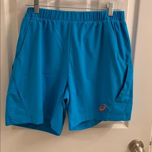 autentyczna jakość sprawdzić tanie z rabatem NWOT ASICS Teal Motion Dry Tennis Shorts